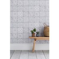 Next Paste The Wall Painted Tiles Wallpaper - Natural