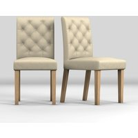Next Set Of 2 Moda II Button Chairs - Natural