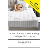 Next 2000 Pocket Sprung Collection Luxe Orthopaedic Mattress - White