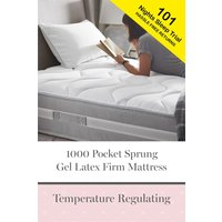 Next 1000 Pocket Gel Infused Latex Firm Mattress - White