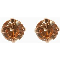Womens Next Rose Gold Sterling Silver Cubic Zirconia Stud Earrings - Pink