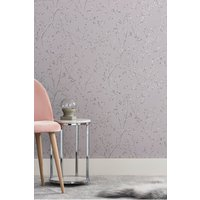 Next Paste The Wall Metallic Sprig Wallpaper - Mink
