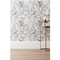 Next Paste The Wall Natural Birds Wallpaper - Pink