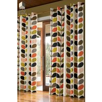 Orla Kiely Multi Stem Eyelet Curtains - Cream