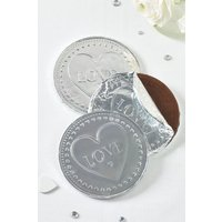 Next 3 Pack 80g Milk Chocolate Coins - Silver