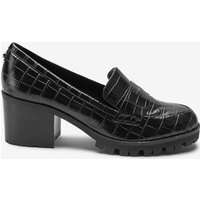 Womens Next Black Cleated Loafers -  Black