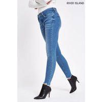 Womens River Island Mid Wash Amelie Sunshine Long Leg Jean - Blue