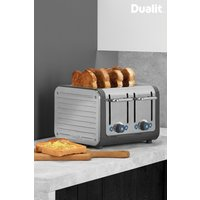 Dualit Grey Architect 4 Slot Toaster - Silver