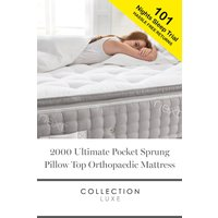 Next 2000 Pocket Sprung Luxury Pillow Top Orthopaedic Mattress - White