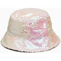 Girls Next White Sequin Hat (Older) - White