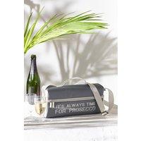 Next 2 Person Metallic Slogan Wine Cooler - Grey
