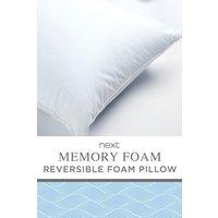 Next Memory Foam Fibre Pillow - White