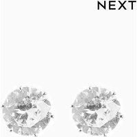 Womens Next Silver Tone Cubic Zirconia Stud Earrings - Silver