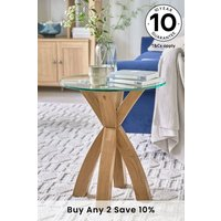 Next Huntingdon Glass Side Table - Natural