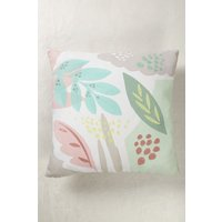 Next Abstract Leaf Cushion - Pink