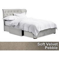 Next Elise 2 Drawer Bedstead - Soft Velvet Pebble