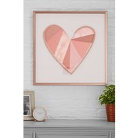 Next Large Heart Framed Art - Pink