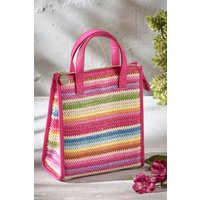 Next Woven Stripe Lunch Bag - Pink