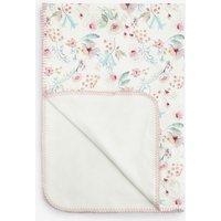 Next Ecru/Pink Floral Blanket (Newborn) - Pink