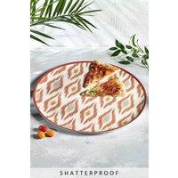 Next Ikat Patterned XL Melamine Platter - Orange