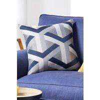 Next Optical Geo Jacquard Cushion - Blue