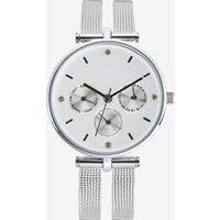 Womens Next Silver Tone Split Strap Mesh Watch - Silver