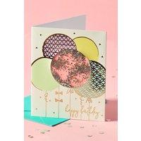 Next Balloon Shaker Birthday Card - Gold