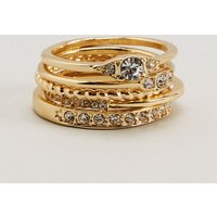 Womens Next Gold Tone Multi Ring Pack - Gold