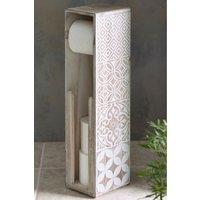 Next Tile Print Toilet Roll Holder - Natural