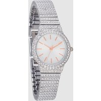 Womens Next Silver Tone Small Sparkle Bracelet Watch - Silver
