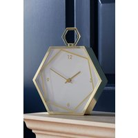 Next Hexagon Mantle Clock - Gold
