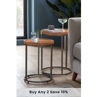 Next Set Of 2 Amsterdam Nest Of Tables - Natural