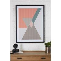 Next Geo Pattern Framed Print - Orange