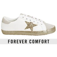 Womens Next White Forever Comfort Gold Star Trainers - White