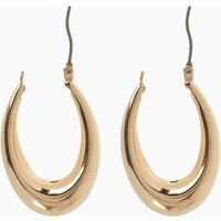 Womens Next Gold Tone Chunky Hoop Earrings - Gold