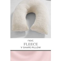 Next Super Soft Fleece V Shaped Pillow - Cream
