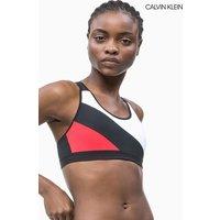 Womens Calvin Klein Performance Medium Support Sports Bra - Red