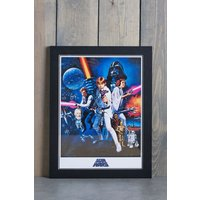 Next Star Wars Framed Print - Blue