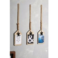 Next Set of 3 Travel Hanging Decorations - Natural
