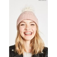 Womens Jack Wills Pink Dorchester Cable Hat - Pink