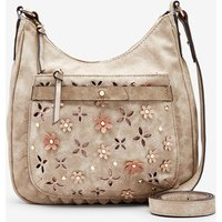 Womens Next Taupe Floral Casual Messenger Bag - Nude