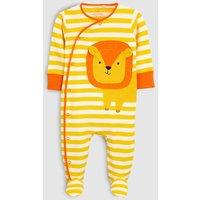 Boys Next Yellow Lion Sleepsuit (0mths-2yrs) - Yellow