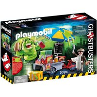 Boys Playmobil Ghostbusters Hot Dog Stand With Slimer
