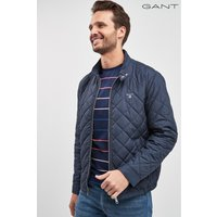 Mens GANT Navy Quilted Windcheater Jacket - Blue