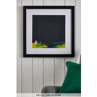 Next Artist Collection Slate Cottage by Jay Nottingham Framed Print - Blue