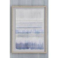 Next Textured Paper Framed Print - Blue