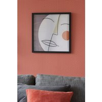 Next Abstract Face Framed Print - Grey