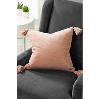 Next Velvet Tassel Cushion - Pink