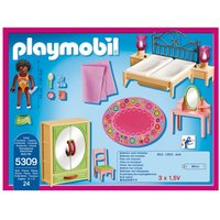 Boys Playmobil Dollhouse Master Bedroom With Functional Bedside Lights