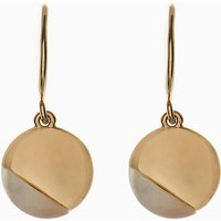 Womens Next Gold Tone Mother Of Pearl Detail Drop Earrings - Gold